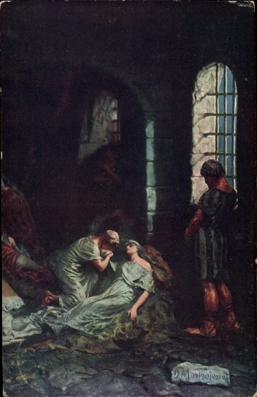Künstler Ak Mastroianni, Domenico, Szene aus Quo Vadis, Lygia im Gefängnis
