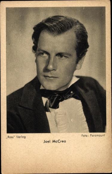 Ak Schauspieler Joel McCrea, Portrait, Ross Verlag