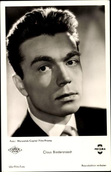 Ak Schauspieler Claus Biederstaedt, Portrait