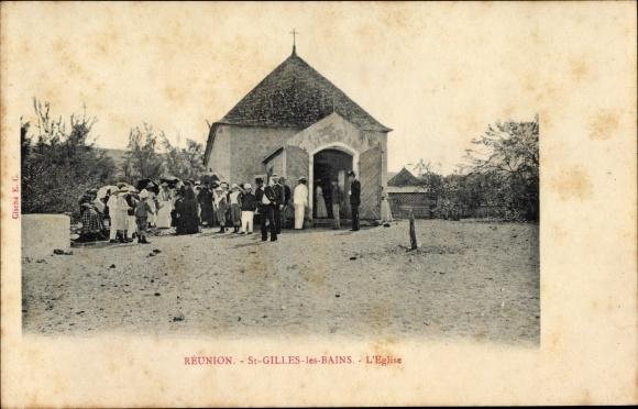 Ak Saint Gilles les Bains Réunion, L'Église