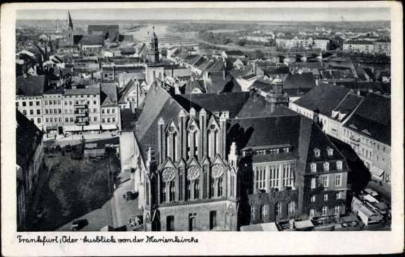 Ak Frankfurt an der Oder, Stadt von der Marienkirche gesehen, Rathaus