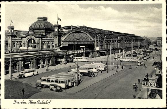 Ak Dresden in Sachsen, Hauptbahnhof