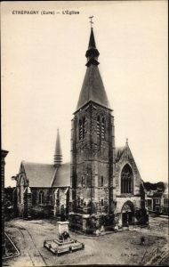 Ak Étrépagny Eure, Eglise, Monument