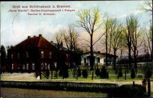 Ak Schönebeck Vegesack Bremen, Etablissement Neue Weide