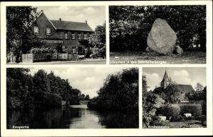 Ak Gimbte Greven Nordrhein Westfalen, Gasthaus Zum deutschen Herd, Lönsstein, Kirche, Ems