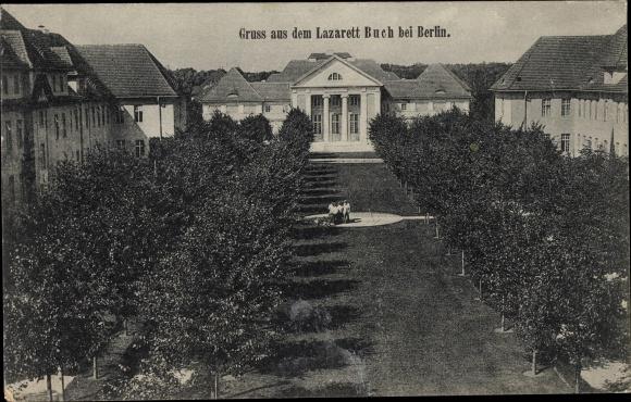 Ak Berlin Pankow Buch, Krankenhaus, Lazarett I. WK