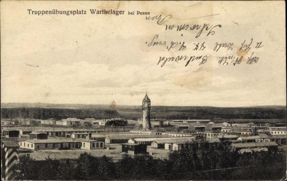 Ak Poznań Posen, Truppenübungsplatz Warthelager, Totalansicht