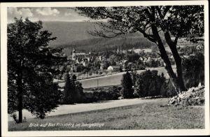 Ak Świeradów Zdrój Bad Flinsberg Schlesien, Panorama vom Ort