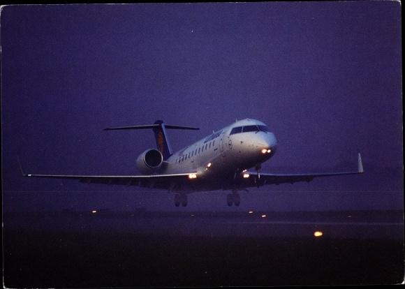 Ak Deutsches Passagierflugzeug, Lufthansa, Canadair Jet