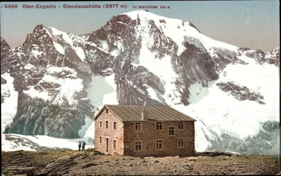 Ak Ober Engadin Kanton Graubünden, Diavolezzahütte, Piz Morteratsch