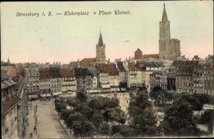 Ak Strasbourg Straßburg Elsass Bas Rhin, Kleberplatz