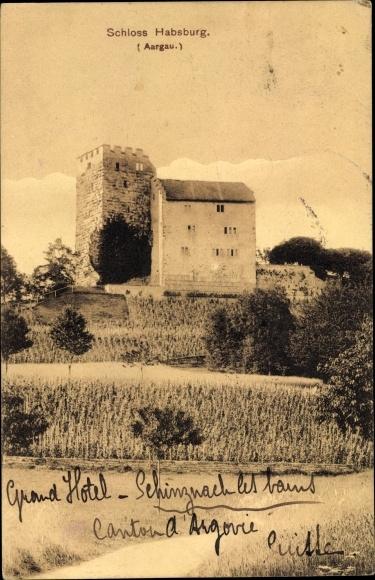 Ak Habsburg Kt. Aargau Schweiz, Schloss Habsburg