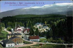 Ak Szklarska Poręba Schreiberhau Riesengebirge Schlesien, Josephinenhütte, Schneegrubenbaude