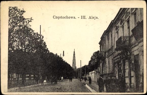 Ak Częstochowa Tschenstochau Schlesien, III. Aleja