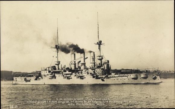 Ak Deutsches Kriegsschiff, SM Linienschiff Deutschland