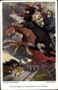 Künstler Ak Böcklin, Arnold, Der Krieg, Apokalyptische Reiter
