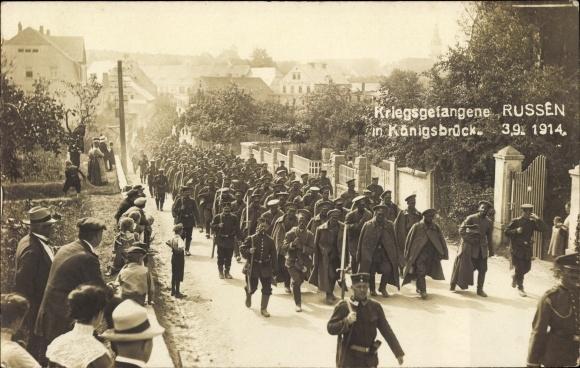 Foto Ak Königsbrück in der Oberlausitz, Kriegsgefangene Russen