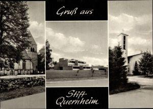 Ak Kirchlengern Ostwestfalen, Stift Quernheim, Kath. Kirche, Ev. Kirche