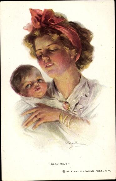 Künstler Ak Boileau, Philip, Baby Mine, Frau mit Kind