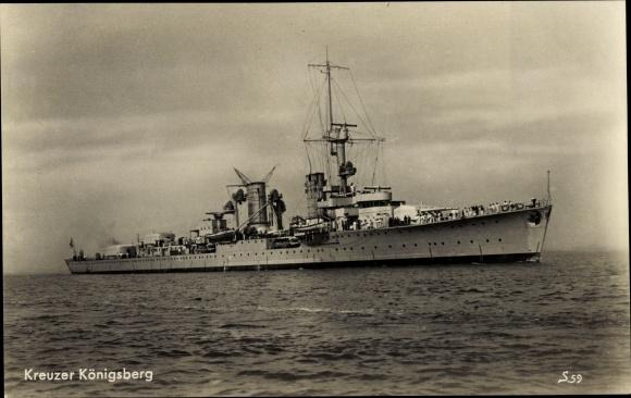Ak Deutsches Kriegsschiff Kreuzer Königsberg, Reichsmarine