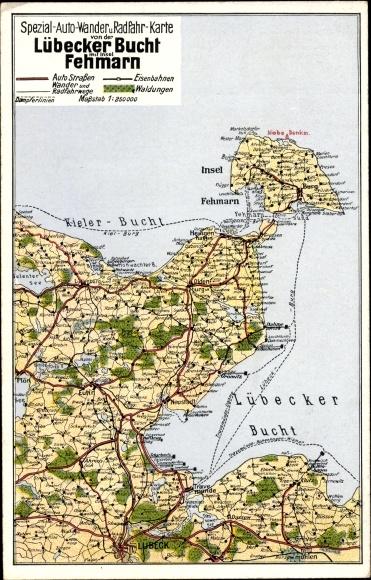 Landkarten Ak Lubeck In Schleswig Holstein Spezial Auto Wander