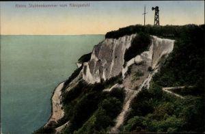 Ak Stubbenkammer Sassnitz auf der Insel Rügen, Kleine Stubbenkammer vom Königsstuhl