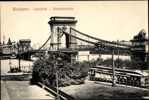 Ak Budapest Ungarn, Kettenbrücke