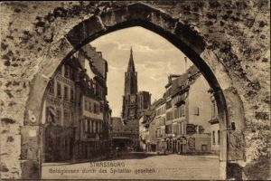 Ak Strasbourg Straßburg Elsass Bas Rhin, Goldgiessen, Spitaltor