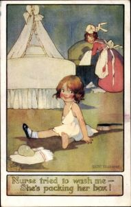 Künstler Ak Richardson, Agnes, Mädchen, Kindermädchen, Tuck 8670