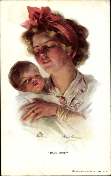 Künstler Ak Boileau, Philip, Baby Mine, Mutter mit Kind