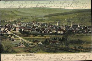 Ak Schlüchtern in Hessen, Panorama vom Ort
