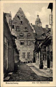 Ak Braunschweig in Niedersachsen, Alter Hof, Reichstraße