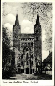 Ak Höxter in Nordrhein Westfalen, Corvey, ehem. Benediktiner Kloster, Westfront