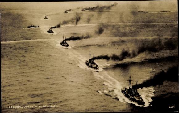 Ak Deutsche Kriegsschiffe, Torpedobootsdurchbruch
