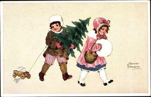Künstler Ak Petersen, Hannes, Frohe Weihnachten, Zur Weihnachtszeit