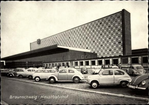 Ak Braunschweig in Niedersachsen, Hauptbahnhof