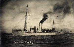 Foto Ak Deutsches Kriegsschiff, Tender Fuchs