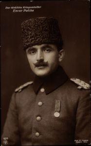 Ak Enver Pascha, Türkischer Kriegsminister, Portrait