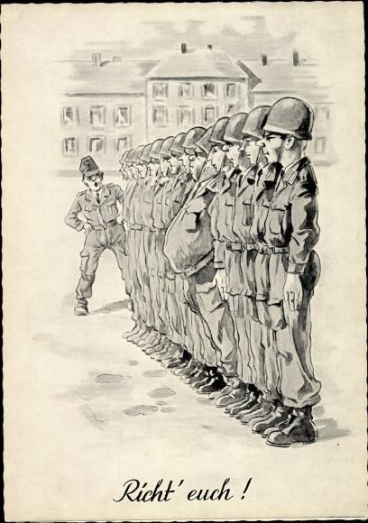 Künstler Ak Richt' euch, Soldaten der Bundeswehr, dicker Bauch