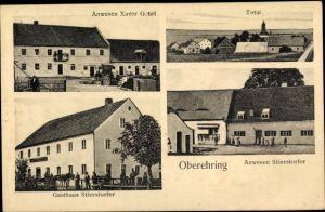 Ak Oberehring Riekofen Bayern, Anwesen Xaver Gehrl, Totalansicht, Gasthaus Stierstorfer, Anwesen
