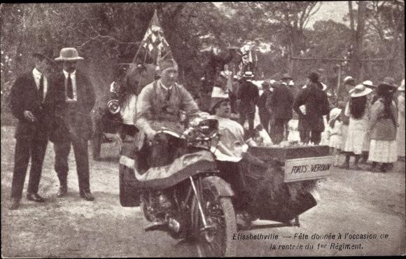 Ak Elisabethville Belgisch Kongo, Fete donnée à l'occasion de la rentrée du 1er Régiment