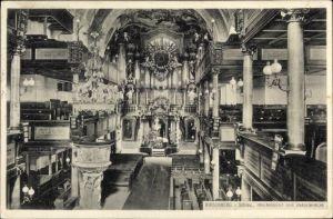 Ak Jelenia Góra Hirschberg Riesengebirge Schlesien, Innenansicht der Gnadenkirche