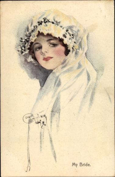 Künstler Ak Barber, Court, My Bride, Portrait einer Frau, Hochzeitskleid