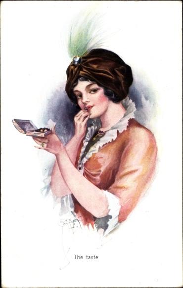 Künstler Ak Barber, Court, The taste, Portrait einer Frau, Turban