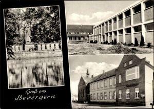 Ak Bevergern Hörstel Nordrhein Westfalen, Ehrenmal, St. Antonius Hospital