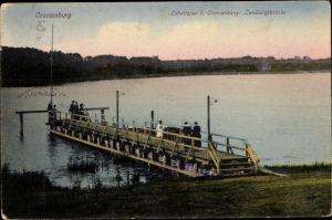 Ak Oranienburg in Brandenburg, Lehnitzsee, Landungsbrücke