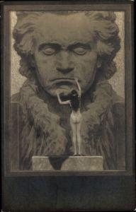 Jugendstil Ak Fidus, Ludwig van Beethoven, Deutscher Komponist, Wiener Klassik