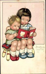 Künstler Ak Mallet, Beatrice, Zwei lesende Kinder