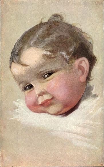 Künstler Ak Fialkowska, Wally, Kinderportrait, Lachen und Weinen, Primus 949