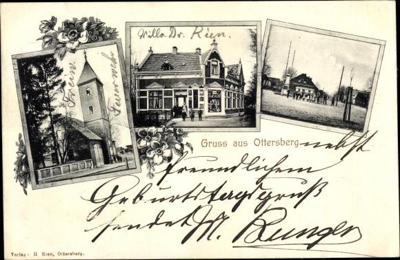 Ak Ottersberg Niedersachsen, Feuerwehr, Villa Dr. Rien